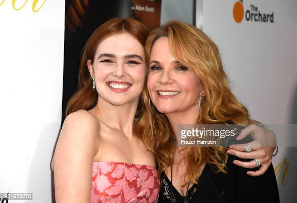 Zoey Deutch and Lea Thompson attend the Premiere Of The Orchard's 'Flower' at ArcLight Cinemas on March 13 2018 in Hollywood California
