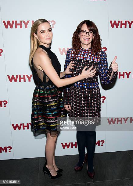 Zoey Deutch and Megan Mullally attend a special screening of Why Him at iPic Theater on December 11 2016 in New York City