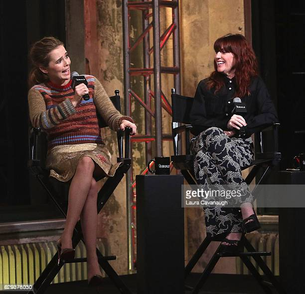 Zoey Deutch and Megan Mullally attend Build Presents to discuss Why Him at AOL HQ on December 12 2016 in New York City