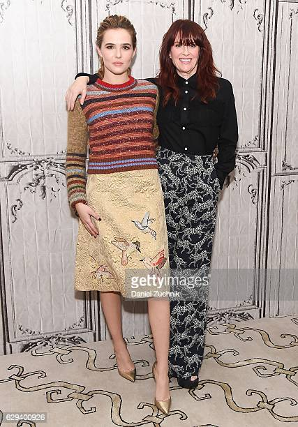 Zoey Deutch and Megan Mullally attend the Build Series to discuss the movie 'Why Him' at AOL HQ on December 12 2016 in New York City