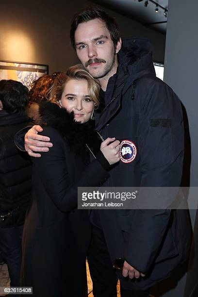 Zoey Deutch and Nicholas Hoult attend the Creators League Studio At 2017 Sundance Film Festival Day 6on January 24 2017 in Park City Utah
