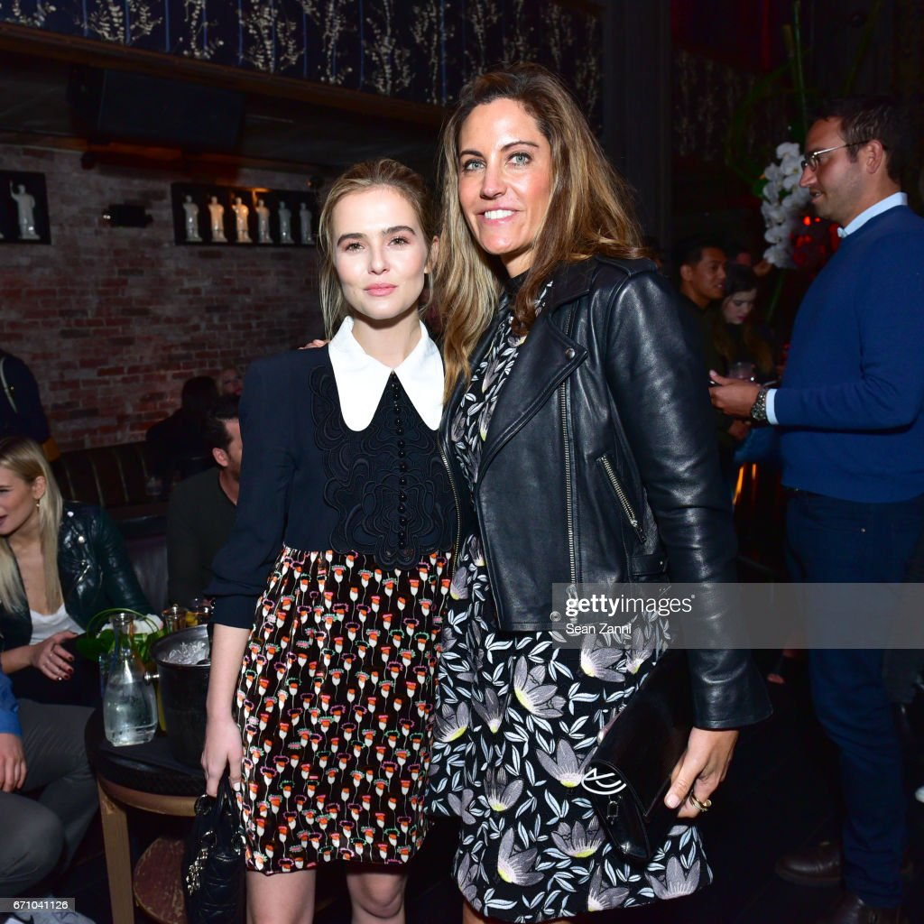 Zoey Deutch and Tracy Brennan attend the after party of the premiere of FLOWER for the Tribeca Film Festival at TAO Downtown on April 20, 2017 in New York City.