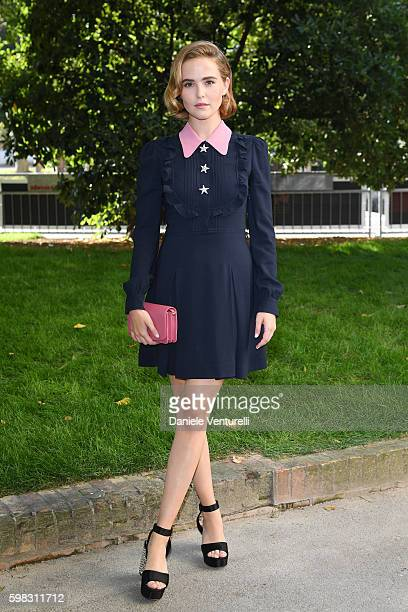 Zoey Deutch arrives at a photocall for 'Women's Tales' during the 73rd Venice Film Festival at on September 1 2016 in Venice Italy