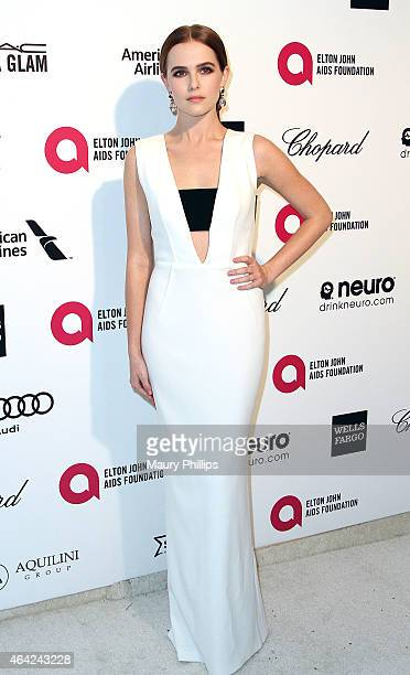 Zoe Deutch arrives at the 23rd Annual Elton John AIDS Foundation Academy Awards Viewing Party at The City of West Hollywood Park on February 22 2015...