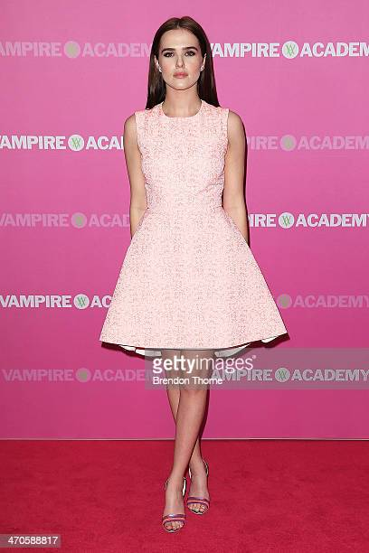 Zoey Deutch arrives at the 'Vampire Academy' premiere at Event Cinemas George Street on February 20 2014 in Sydney Australia
