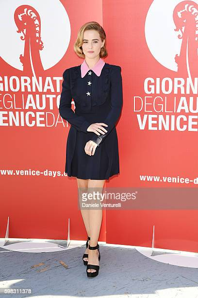 Zoey Deutch attends a photocall for 'Women's Tales' during the 73rd Venice Film Festival at on September 1, 2016 in Venice, Italy.