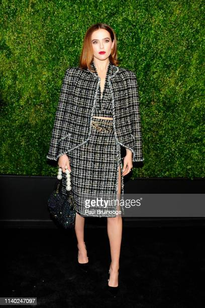 Zoey Deutch attends Chanel Hosts The 2019 Tribeca Film Festival Artist's Dinner at Balthazar, NYC on April 29, 2019 in New York City.