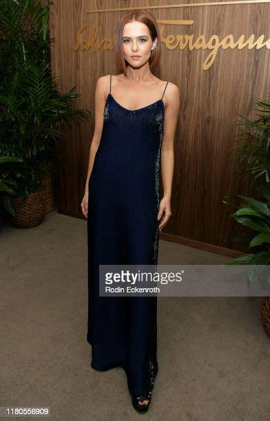 Zoey Deutch attends ELLE x Ferragamo Hollywood Rising Party at Sunset Tower on October 11 2019 in Los Angeles California