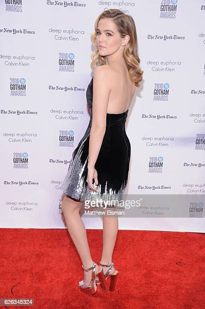 Zoe Deutch attends IFP's 26th Annual Gotham Independent Film Awards at Cipriani Wall Street on November 28 2016 in New York City
