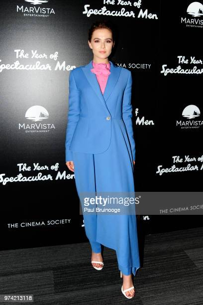 Zoey Deutch attends MarVista Entertainment And Parkside Pictures With The Cinema Society Host A Special Screening Of The Year Of Spectacular Men at...