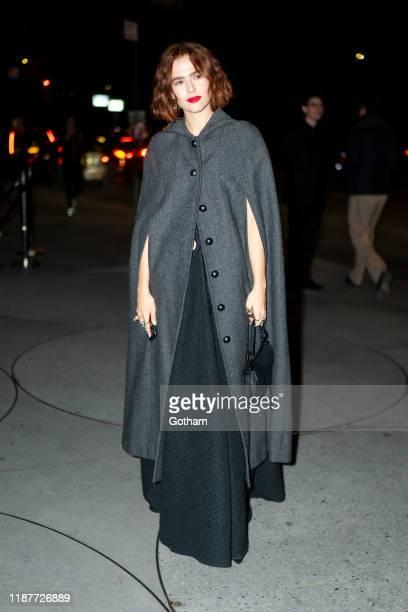Zoey Deutch attends the 2019 Guggenheim International Gala on November 14 2019 in New York City