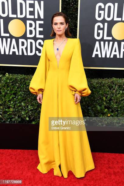 Zoey Deutch attends the 77th Annual Golden Globe Awards at The Beverly Hilton Hotel on January 05, 2020 in Beverly Hills, California.