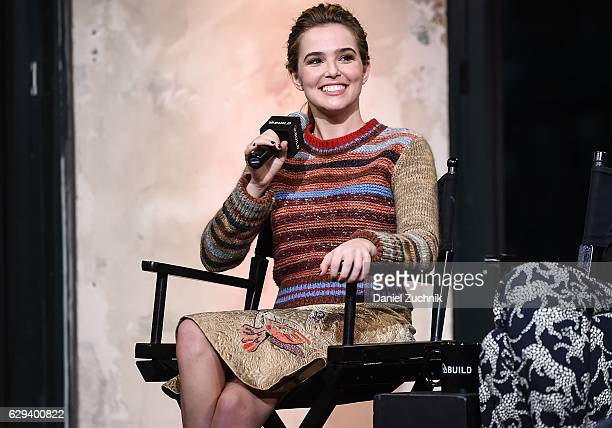 Zoey Deutch attends the Build Series to discuss the movie 'Why Him' at AOL HQ on December 12 2016 in New York City