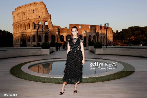 Zoey Deutch attends the Cocktail at Fendi Couture Fall Winter 2019/2020 on July 04 2019 in Rome Italy