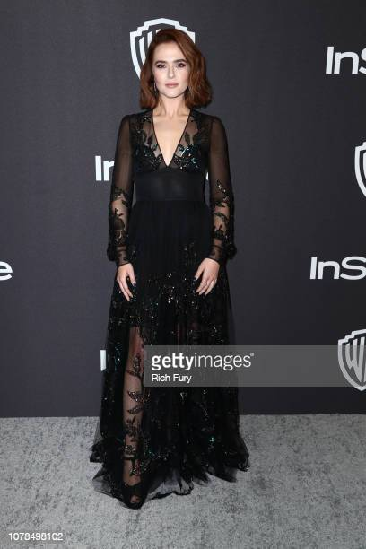 Zoey Deutch attends the InStyle And Warner Bros Golden Globes After Party 2019 at The Beverly Hilton Hotel on January 6 2019 in Beverly Hills...