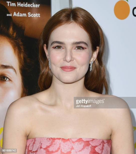 Zoey Deutch attends the Los Angeles Premiere 'Flower' at ArcLight Cinemas on March 13 2018 in Hollywood California