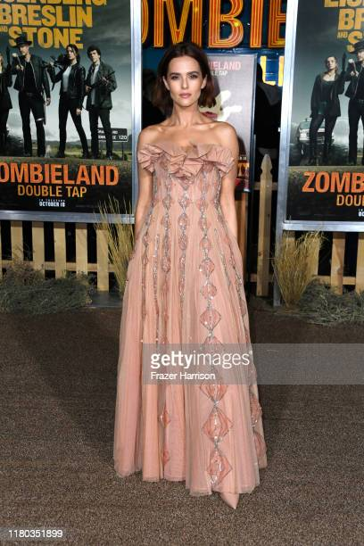 Zoey Deutch attends the Premiere Of Sony Pictures' Zombieland Double Tap at Regency Village Theatre on October 10 2019 in Westwood California