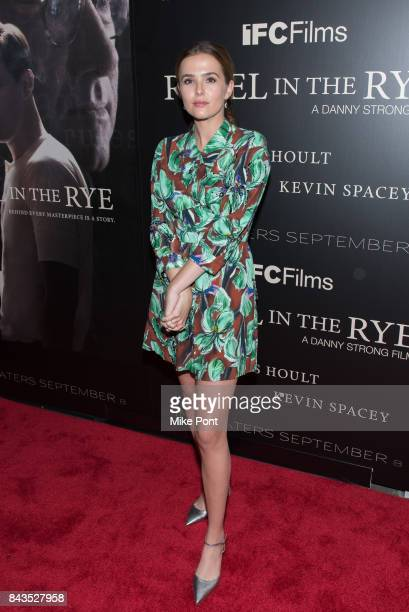 Zoey Deutch attends the 'Rebel in the Rye' New York Premiere at Metrograph on September 6 2017 in New York City
