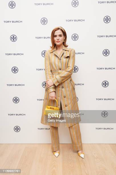 Zoey Deutch attends the Tory Burch Ginza Boutique Opening on April 02 2019 in Tokyo Japan