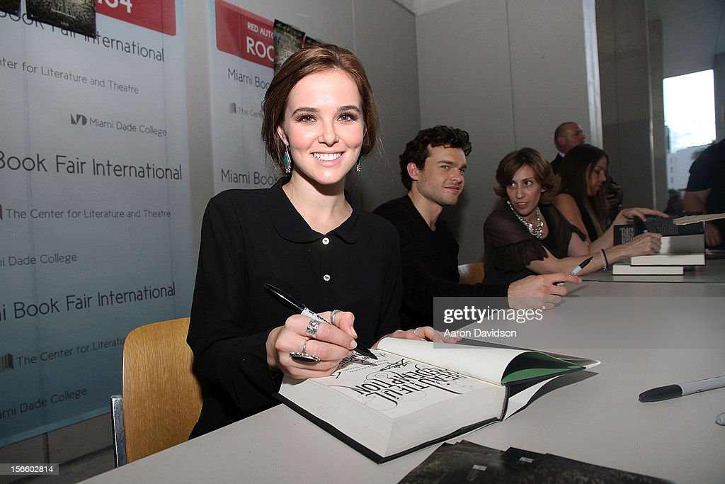 Zoey Deutch attends Warner Bros. 'Beautiful Creatures' Authors And Cast At Miami Book Fair on November 17, 2012 in Miami, Florida.