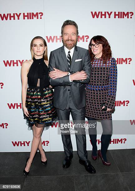 Zoey Deutch Bryan Cranston and Megan Mullally attend a special screening of Why Him at iPic Theater on December 11 2016 in New York City