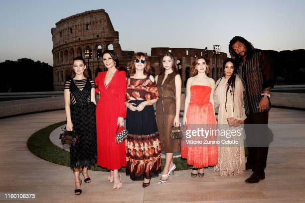 Zoey Deutch Catherine Zeta Jones Susan Sarandon Carys Zeta Douglas Kiernan Shipka and Lilakoi Moon attends the Cocktail at Fendi Couture Fall Winter...