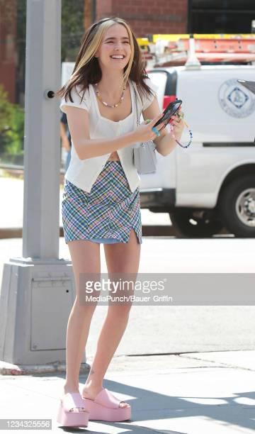 Zoey Deutch is seen on July 30, 2021 in New York City.