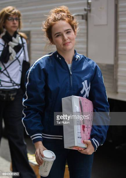 Zoey Deutch is seen on the film set of 'Set it Up' on June 9 2017 in New York City