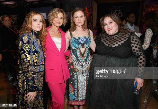 Zoey Deutch Kyra Sedgwick Anna Paquin and Chrissy Metz attend The Hollywood Reporter's 2017 Women In Entertainment Breakfast at Milk Studios on...