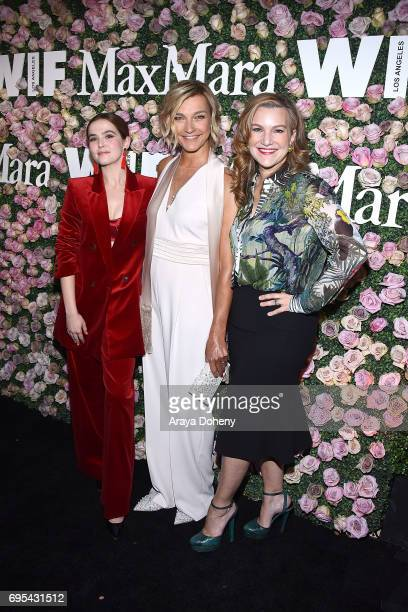 Zoey Deutch Nicola Maramotti and Cathy Schulman attend the Max Mara Celebrates Zoey Deutch As The 2017 Women In Film Max Mara Face Of The Future...