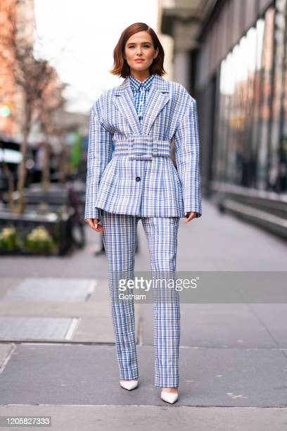 Zoey Deutch seen outside the Build Studio on February 12 2020 in New York City