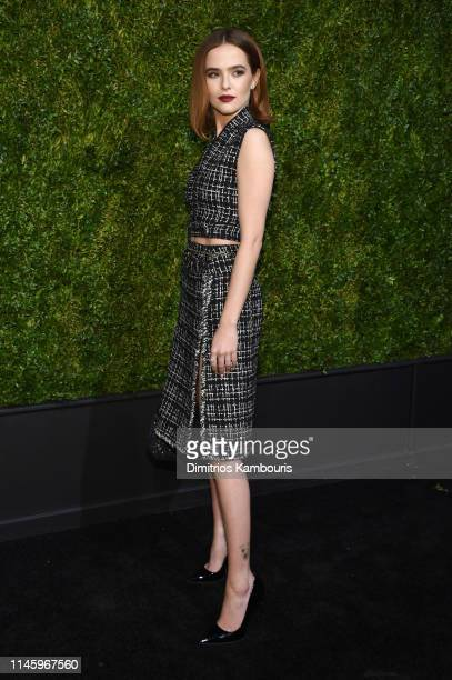 Zoey Deutch wearing CHANEL attends as CHANEL hosts 14th Annual Tribeca Film Festival Artists Dinner at Balthazar on April 29 2019 in New York City