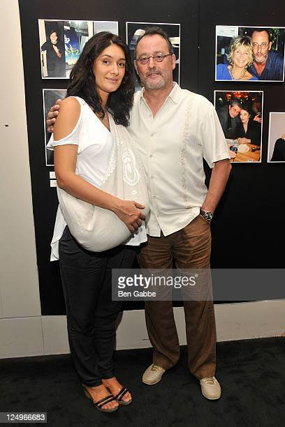 Zofia Borucka and Jean Reno attend the New York Mon Amour Exhibition Opening Reception at The Film Society of Lincoln Center Walter Reade Theatre on...