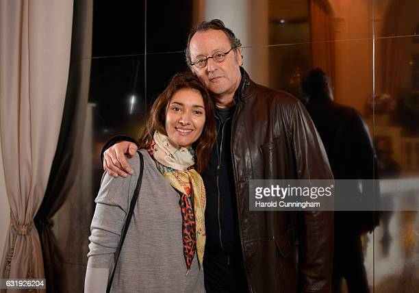 Zofia Borucka and Jean Reno visit the IWC booth during the launch of the Da Vinci Novelties from the Swiss luxury watch manufacturer IWC Schaffhausen...