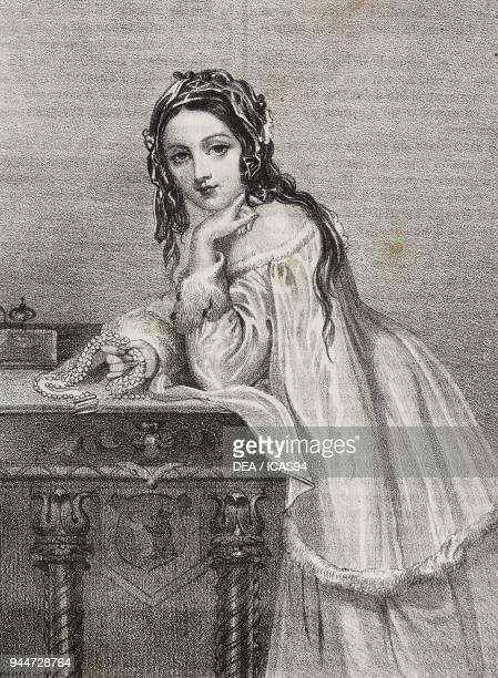 Zofia Potocka nee Clavone nicknamed la Belle Phanariote lithograph by Gaetano Riccio from Poliorama Pittoresco n 36 April 15 1843