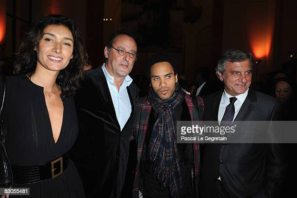 Zofia Reno Actor Jean Reno Lenny Kravitz and Sydney Toledano attend the Patrick Demarchelier's exhibition Party on September 29 2008 in Paris France