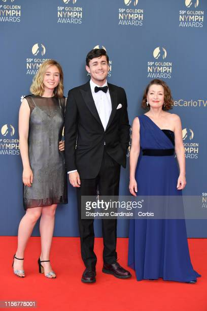 Zofia Wichlacz Jonahhauer King and Lesley Manville attend the closing ceremony of the 59th Monte Carlo TV Festival on June 18 2019 in MonteCarlo...