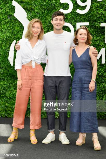 Zofia Wichlacz JonahHauer King and Lesley Manville from the serie World on Fire attend the 59th Monte Carlo TV Festival Day Four on June 17 2019 in...