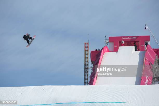 Zoi Sadowsi Synnott New Zealand competes at the ladies big air qualification during the Pyeongchang Winter Olympics 2018 on February 19th 2018 at the...