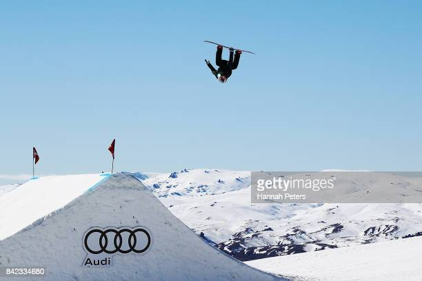 Zoi Sadowski Synnott of New Zealand competes during Winter Games NZ FIS Women's Snowboard World Cup Slopestyle Finals at Cardrona Alpine Resort on...