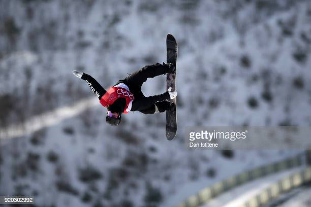 Zoi Sadowski Synnott of New Zealand during the Snowboard Ladies' Big Air Qualification on day 10 of the PyeongChang 2018 Winter Olympic Games at...
