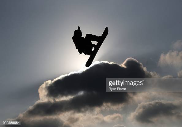Zoi Sadowski Synnott of New Zealand trains ahead of the Snowboard Ladies' Big Air Final on day 13 of the PyeongChang 2018 Winter Olympic Games at...