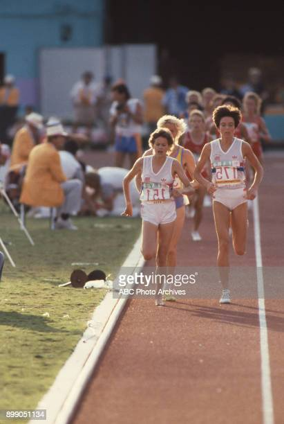Zola Budd in the Women's 3000 meter at the 1984 Summer Olympics