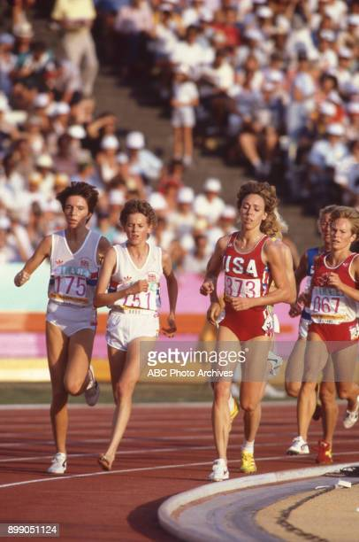 Zola Budd Mary Decker in the Women's 3000 meter at the 1984 Summer Olympics