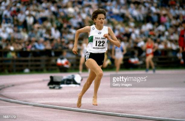Zola Budd of Great Britain in action during the Dale Farm Ulster Challenge in Northern Ireland Mandatory Credit Allsport UK /Allsport