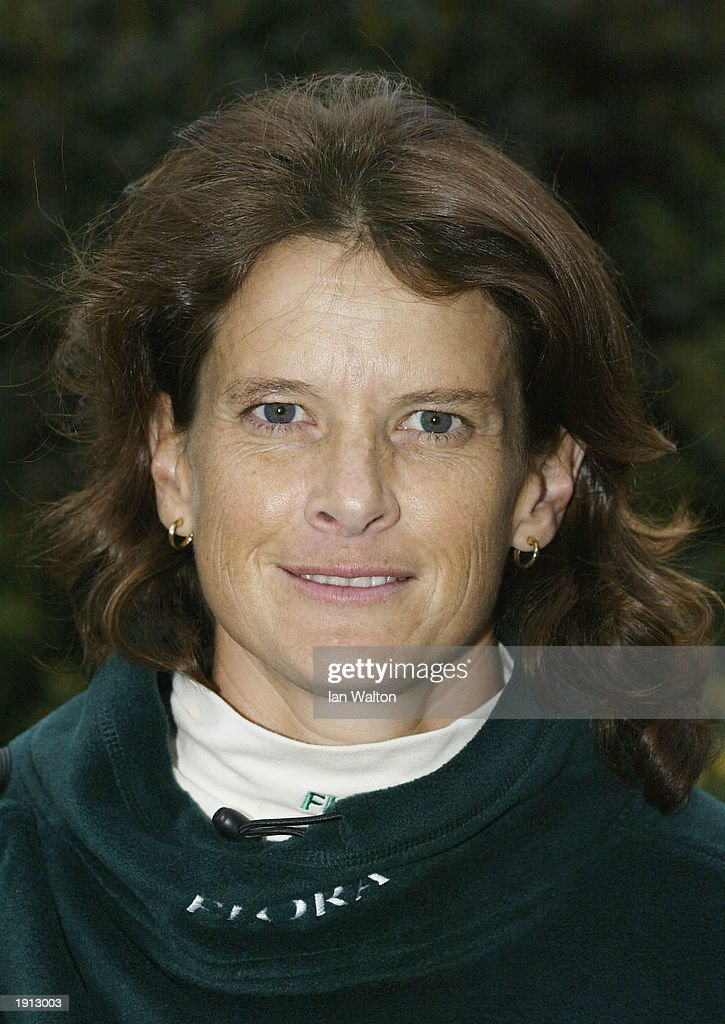 Zola Budd of South Africa during a press photocall at the Thilte Hotel at Tower Bridge prior to the 2003 Flora London Marathon in London on April 11, 2003.