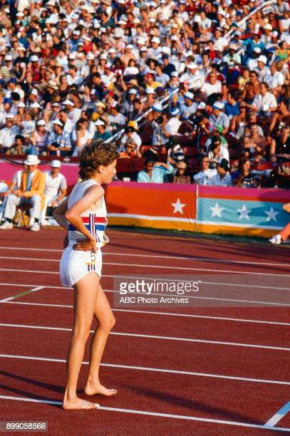 Zola Budd Women's 3000 Meter competition Memorial Coliseum at the 1984 Summer Olympics August 10 1984