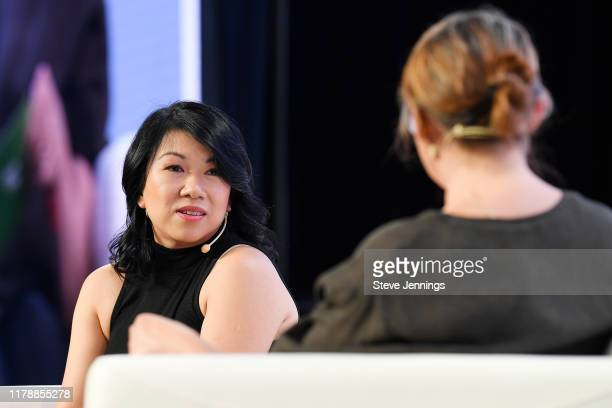 Zola Co-Founder & CEO Shan-Lyn Ma and TechCrunch Writer Ingrid Lunden speak onstage during TechCrunch Disrupt San Francisco 2019 at Moscone...