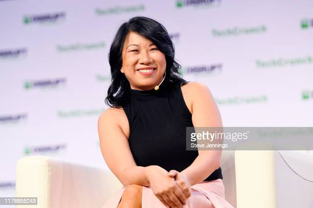 Zola Co-Founder & CEO Shan-Lyn Ma speaks onstage during TechCrunch Disrupt San Francisco 2019 at Moscone Convention Center on October 03, 2019 in San...