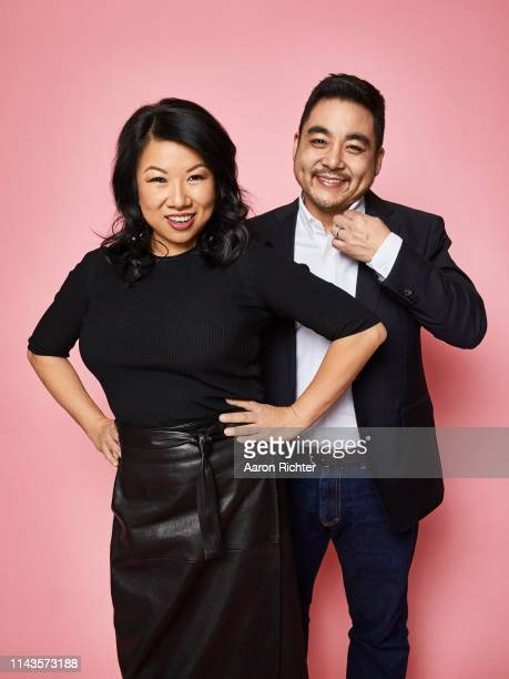 Zola co-founders Shan-Lyn Ma and Nobu Nakaguchi are photograpehd for Fast Company Magazine on December 19, 2018 in New York City. PUBLISHED IMAGE.